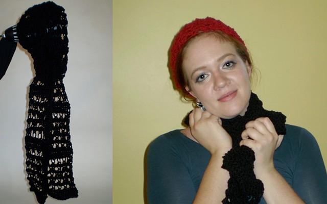hand-crocheted scarf by ashley seaman