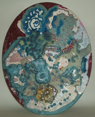 fine art created from recycled beauty products by ashley seaman