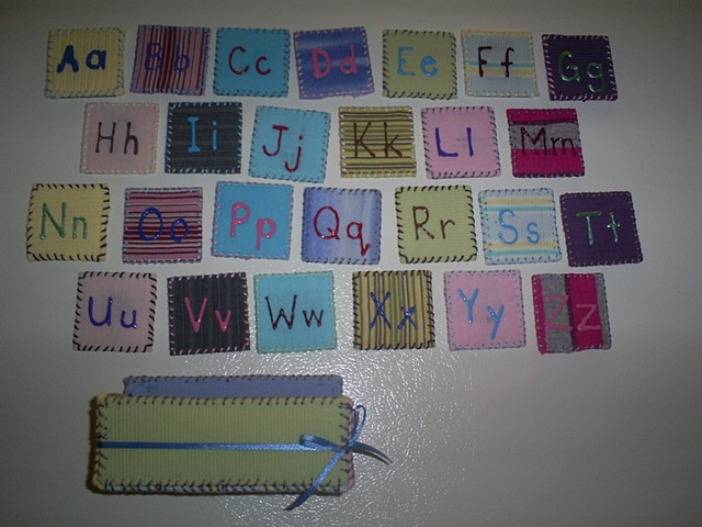 handmade alphabet magnet set by ashley seaman