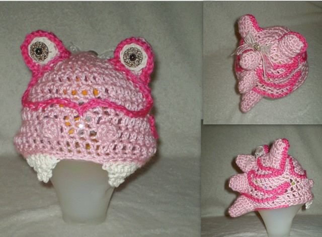 hand crocheted monster baby hat by ashley seaman