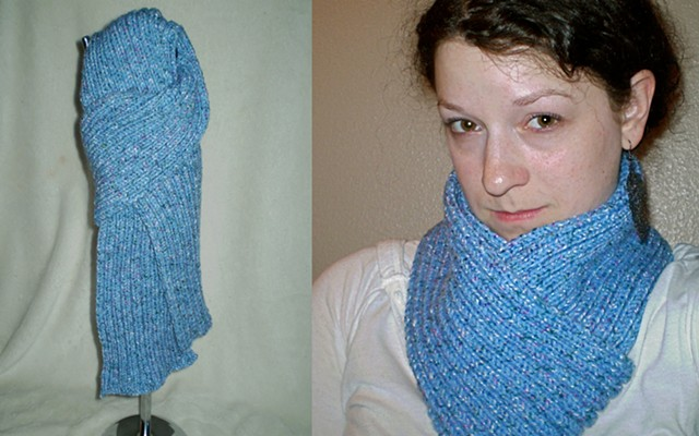 hand-knit scarf by ashley seaman