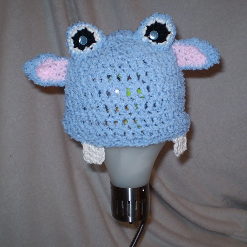 hand crocheted hippo baby hat by ashley seaman