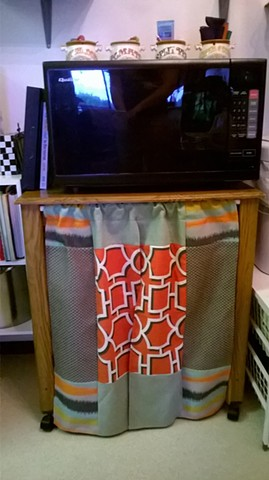 Microwave Stand Curtain