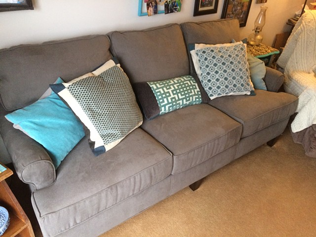 Sofa with Toss Pillows