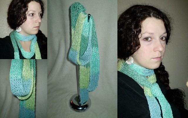 hand-knit stripe scarf by ashley seaman