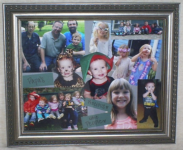 scrapbook collage frame for grandpa by ashley seaman