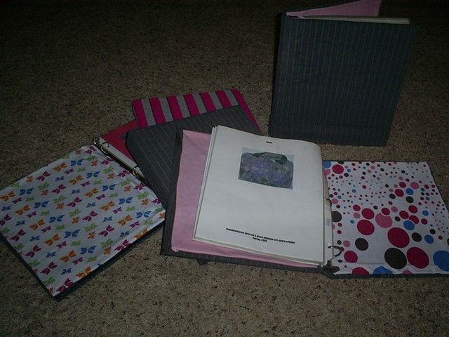 fabric covered binders by ashley seaman