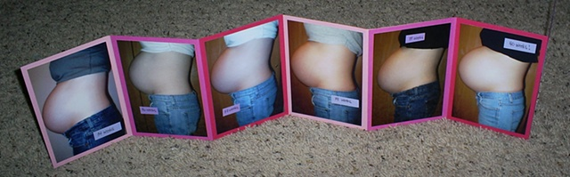 scrapbooking pregnancy belly pics