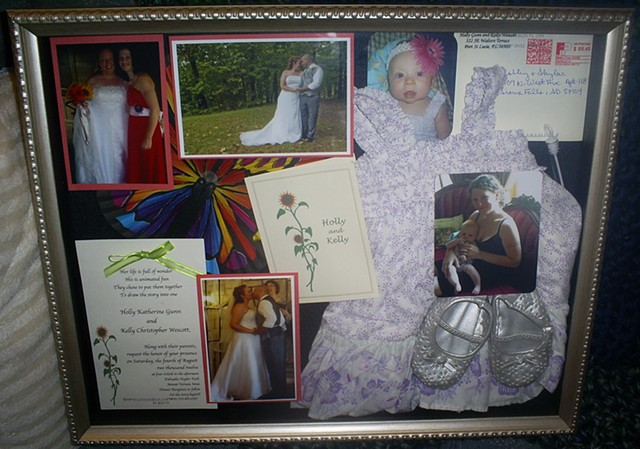 wedding shadowbox by ashley seaman