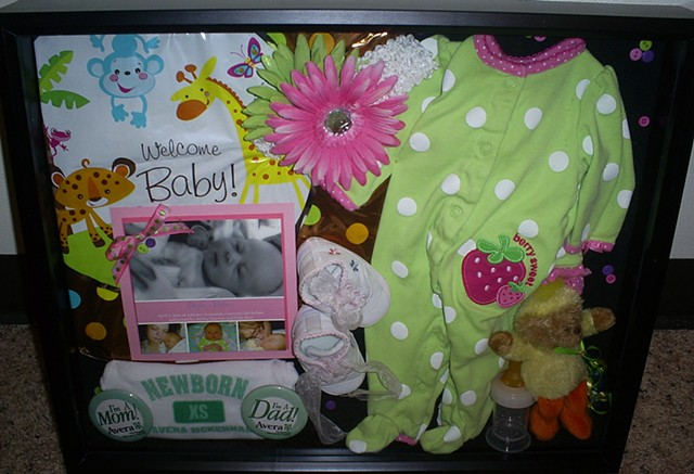 newborn baby shadowbox by ashley seaman