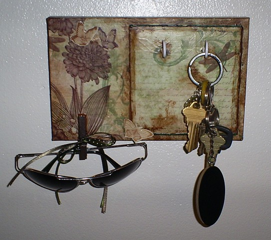 Decorative Key and Sunglasses Holder by Ashley Seaman