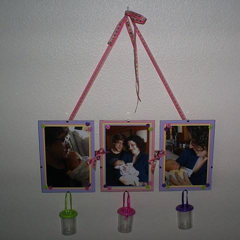 decorated clip frame with newborn baby pics by ashley seaman