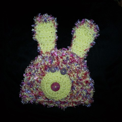 hand crocheted bunny baby hat by ashley seaman