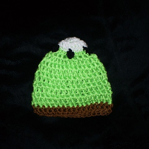 hand crocheted kiwi baby hat by ashley seaman