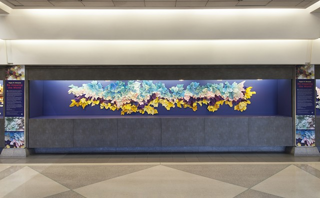 Installation View of Delineated (Philadelphia International Airport)