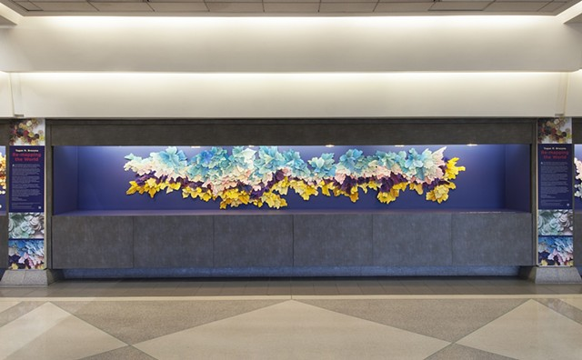 """Tegan M Brozyna: Re-Mapping the World"" at the Philadelphia International Airport"