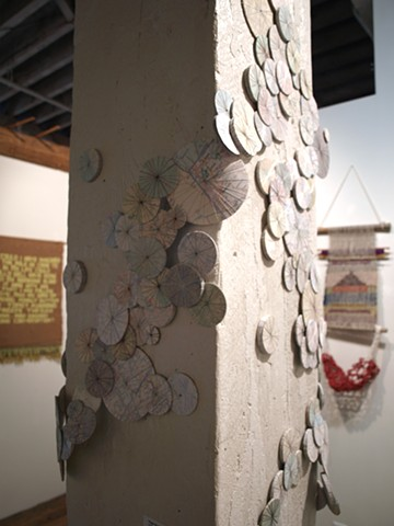 Drift (Installation View from the AIR Gallery at the Textile Arts Center)