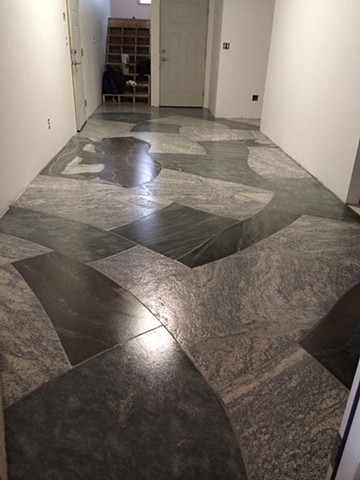 granite mosaic floor