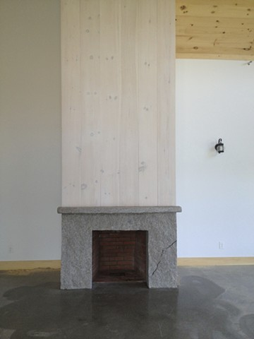 one piece stone fireplace