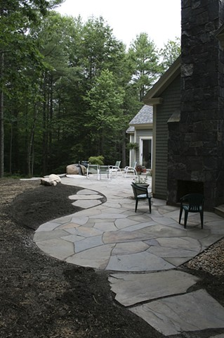 Bluestone patios and walkways