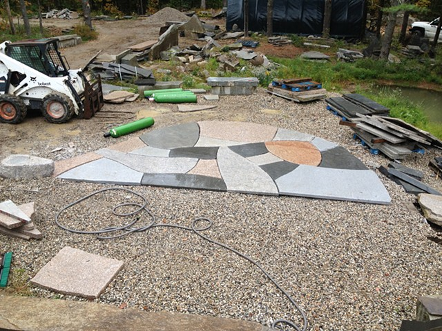 mixed granite patio