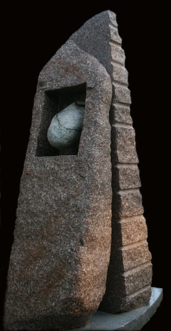 Stone sculpture in Maine