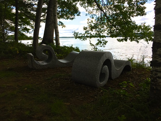 fiddlehead sculptures by jordan smith in maine
