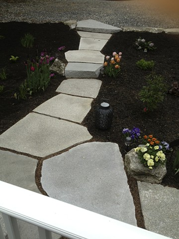 granite stepping stone walkway