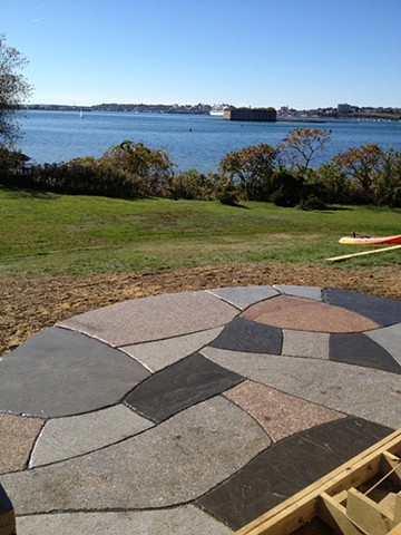 mixed granite patio. Little diamond island