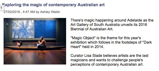 ABC Adelaide - Exploring the magic of Australian contemporary art