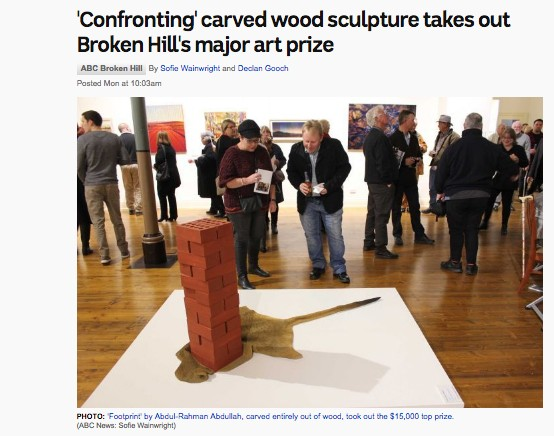 ABC - 'Confronting' carved wood sculpture takes out Broken Hill's major art prize