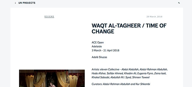 Un Projects - Waqt al-Tagheer
