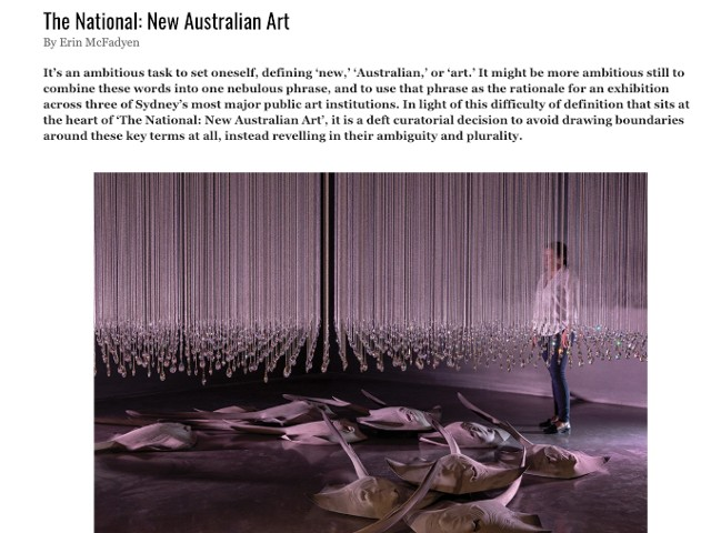 Artist Profile - The National: New Australian Art