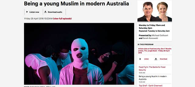 ABC Radio - Being a young Muslim in modern Australia