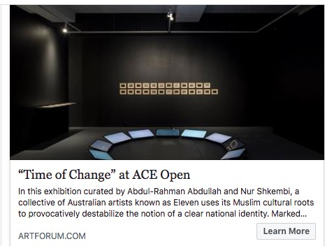 Artforum - Critics Pick; Time of Change