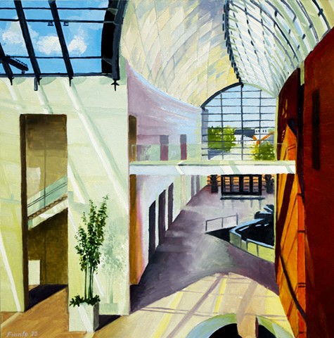 Dan Fionte Salem Massachusetts Peabody Essex Museum P.E.M pem PEM oil on panel Atrium 1