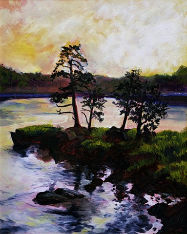 newburyport merrimack river painting amesbury massachusetts deer island dan fionte oil painting on canvas lawrence massachusetts essex art center