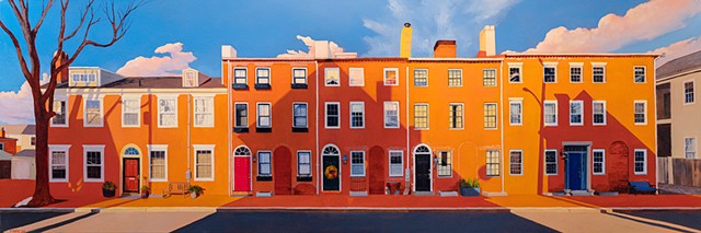 Dan Fionte's painting of Middle Street, in Newburyport Massachusetts.