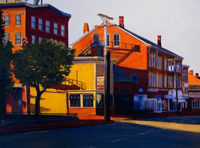 Stately Prince Newburyport Massachusetts by Dan Fionte oil paint