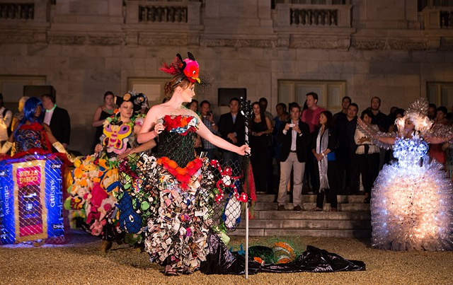 The Overfishing Dress @ Americas' Folly, Washington DC, 2015, photo credit AMA Art OAS