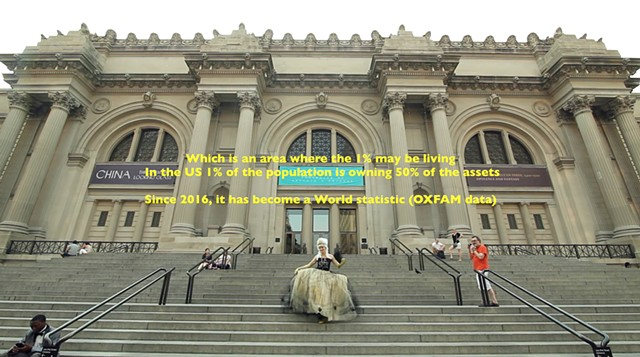 The-Haves-and-the-Have-Nots Dress, at the Met and the Conservatory Garden, New York 2015