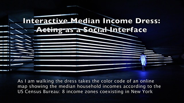 Video presenting the Interactive Median Income Wearable