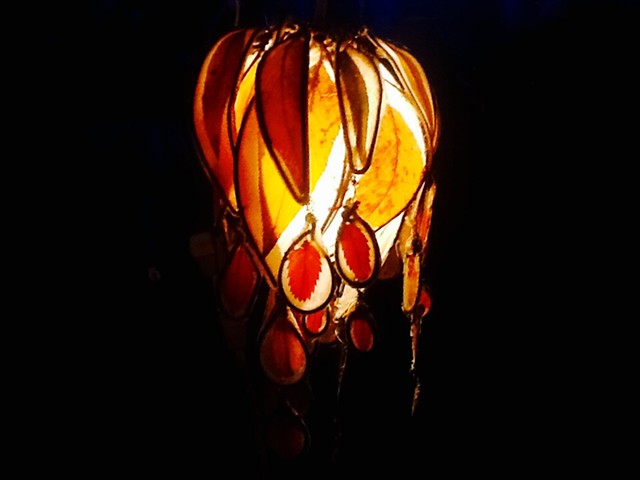 Autumn leaves, lantern, ornament, chandelier ,paper light