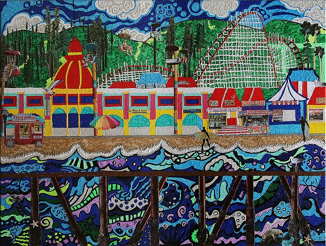 """Santa Cruz Boardwalk""  (prints available)"