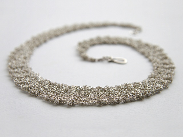 Knit Silver Necklace