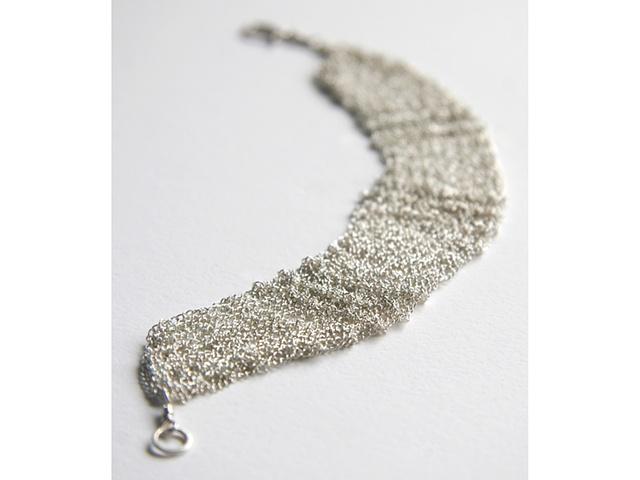 Knit Silver Bracelet