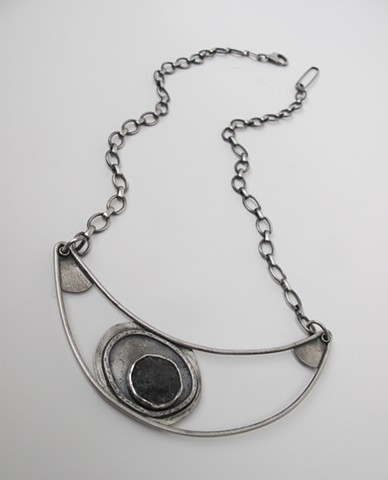Necklace with found steel