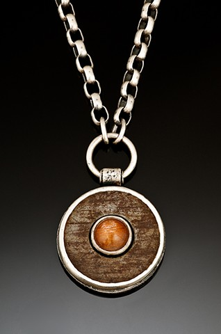pendant with washer and sunstone