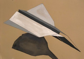 Paintings paper airplanes Acrylic watercolor paper origami