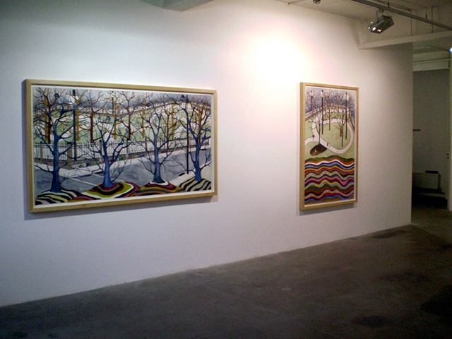 Install  Shot at Gallery Fred, London- Park Series
